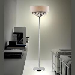Crystal World 4 Light Floor Lamp With Chrome Finish