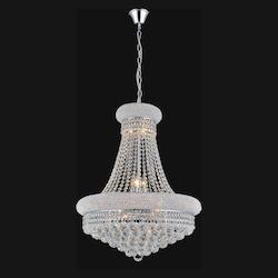 Crystal World 14 Light Down Chandelier With Chrome Finish