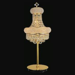 Crystal World 6 Light Table Lamp With Gold Finish