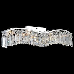 Crystal World 3 Light Vanity Light With Chrome Finish