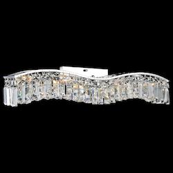 Crystal World 7 Light Vanity Light With Chrome Finish