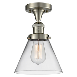 1 Light Vintage Dimmable Led Semi-Flush Mount
