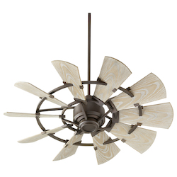 Quorum 194410-86 Windmill 44In. Damp Fan -Ob