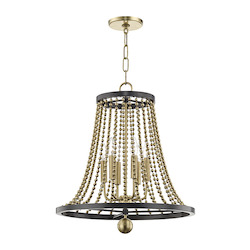 Spool 6 Light Chandelier