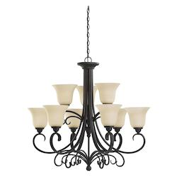 Sea Gull 31123EN3-820 Nine Light Chandelier