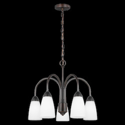Sea Gull Five Light Downlight Chandelier