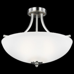 Sea Gull Medium Three Light Semi-Flush Convertible Pendant