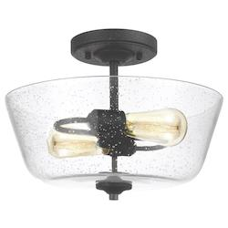 Two Light Ceiling Semi-Flush Mount