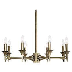 Uttermost Uttermost Brant Aged Brass 8 Light Chandelier