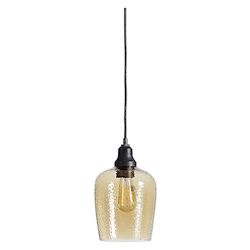 Uttermost Uttermost Aarush Amber Glass 1 Light Mini Pendant