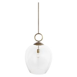 Uttermost Calix Large Blown Glass 1 Light Pendant