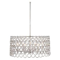 Uttermost Maille 6 Light Silver Pendant