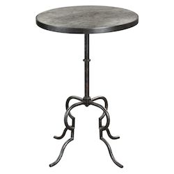 Uttermost 24795 Uttermost Janine Aged Black Accent Table