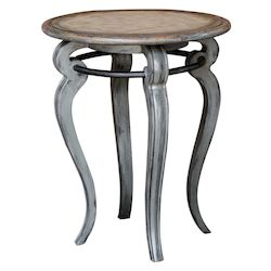 Uttermost 25843 Uttermost Mariah Round Gray Accent Table