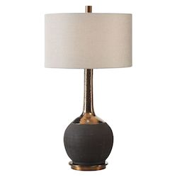 Uttermost 27779 Uttermost Arnav Textured Black Lamp