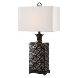 Uttermost 27803-1 Uttermost Bertoia Black Patterned Lamp