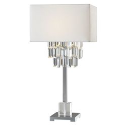 Uttermost 27805-1 Uttermost Resana Polished Nickel Lamp