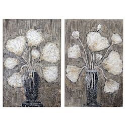 Uttermost Uttermost Clear Water Stems Floral Art S/2