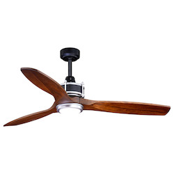 Vaxcel International F0057 Curtiss 52In. Ceiling Fan Matte Black And Brushed Silver