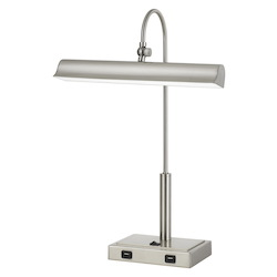 Novara 10W Led Metal Desk Lamp With 2 Usb Outlets