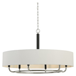 CAL Lighting 60W X 6  Alava Metal Chandelier With Fabric Shade