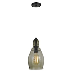 CAL Lighting 60W Accera Rippled Glass Pendant (Edison Bulb Not Included)