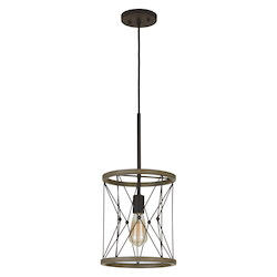 CAL Lighting 60W Modica Metal Pendant (Edison Bulb Not Included)