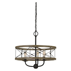 CAL Lighting 40W X 3 Modica Metal Pendant Fixture (Edison Bulbs Not Included)
