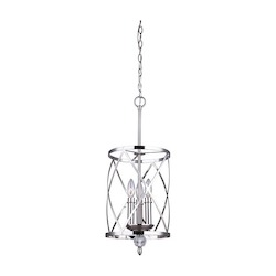 Canarm Vanessa, Ich172B03Bn10, 3 Lt Chandelier, Clear Crystals, 60W Type C, 9 3/4In.