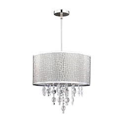 Benito, Ich394A04Ch9, 4 Lt Chandelier, Shade With Crystal, 40W Type G9, 15 3/4&#