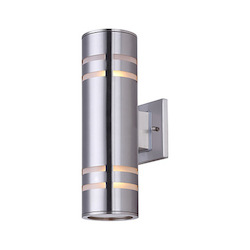 Canarm Tay, Iol256Bn, 2 Lt Outdoor Down Light, Stainless Steel, Glass Diffusers On Top