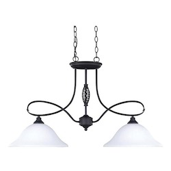 Canarm Twenty One, Ipl253A02 Orb, 2 Lt Pendant, Flat Opal Glass, 100W Type A, 34In.W