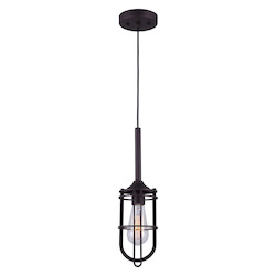 Canarm Indus,  Ipl570A01Orb, 1 Lt Cord Pendant, 100W Type A, 4 3/4In. X 20 - 60In.