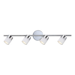 Canarm Megan, It419A04Ch10, 4 Lt Track Light, Flat Opal Glass, 50W Gu10, 29In. W X 4