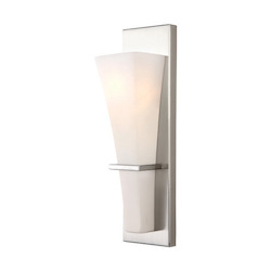 Canarm Laurel, Ivl238B01Bn, 1 Lt Vanity, Flat Opal Glass, 100W Type A, 4 1/2In. X 15