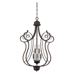 Rubbed Bronze Contemporary 6 Light Pendant