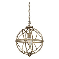 Vintage Gold Traditional 1 Light Pendant