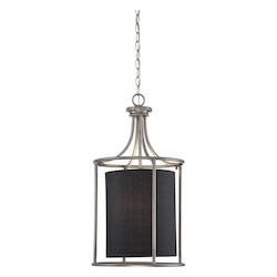 Brushed Pewter Traditional 2 Light Pendant