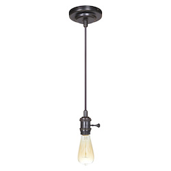 Craftmade CPMKB-1ABZ Design-A-Fixture 1 Light Keyed Socket Pendant Hardware In Aged Bronze Brushed