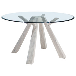 Zuo Modern Beaumont Glass Round Dining Table