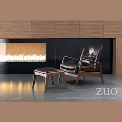 Zuo Modern Bully Lounge Chair & Ottoman