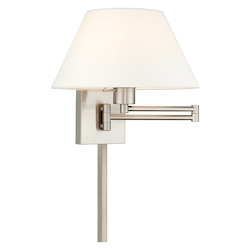 Livex Lighting 40039-91 12 Inch 1 Light Swing Arm Wall Lamp
