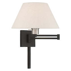 Livex Lighting 40038-04 13 Inch 1 Light Swing Arm Wall Lamp