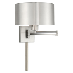 Livex Lighting 40034-91 11 Inch 1 Light Swing Arm Wall Lamp