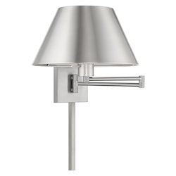 Livex Lighting 40030-91 12 Inch 1 Light Swing Arm Wall Lamp