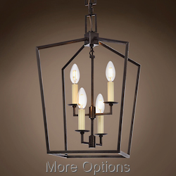 19Th C. English Openwork Lantern 4 Light 12