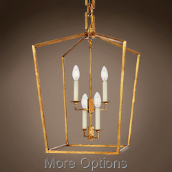 19Th C. English Openwork Lantern 4 Light 17