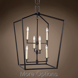 19Th C. English Openwork Lantern 6 Light 24