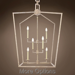 19Th C. English Openwork Lantern 6 Light 29
