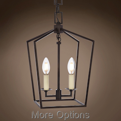 19Th C. English Openwork Lantern 2 Light 9.5